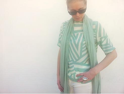 blusa verde agua laga 3