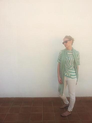 blusa verde agua laga 6