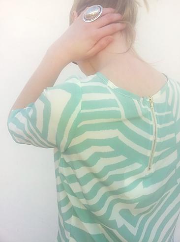 blusa verde agua laga 8