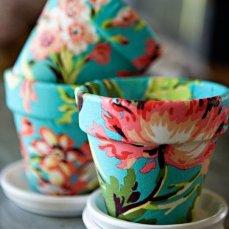 Maceteros con flores. Tutorial aquí: http://goo.gl/qBA6qJ