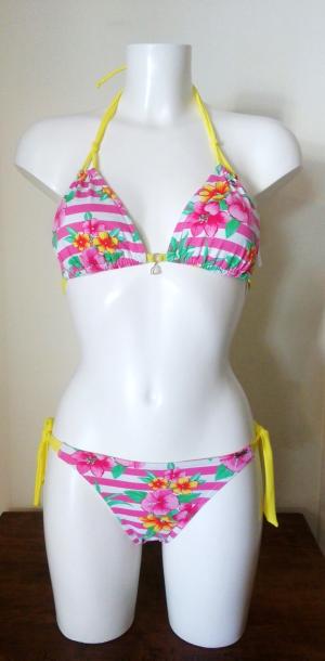 Bikini Banana Moon Rayas Rosas Flores. Talla 38. Precio rebajas: 51,65€